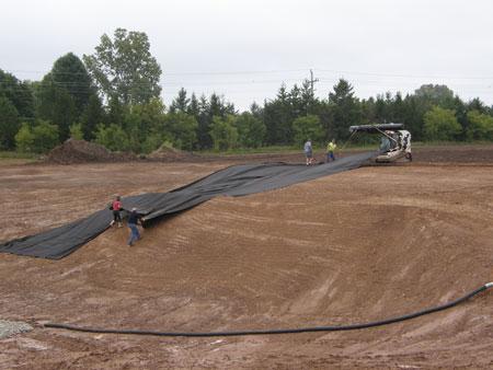 new pond construction, pond liner