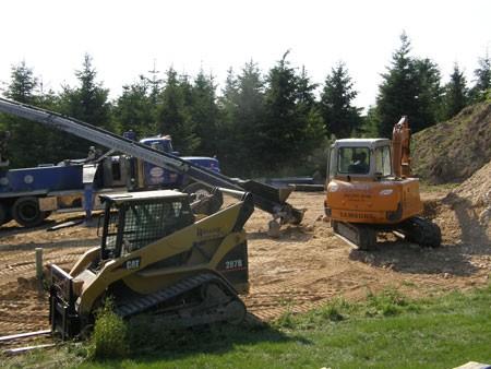 new pond construction