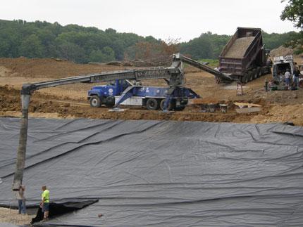 pond liner, new pond construction