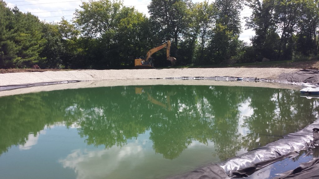 new pond construction