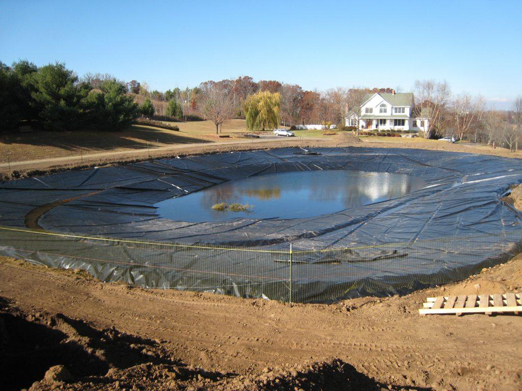 pond construction, pond liner