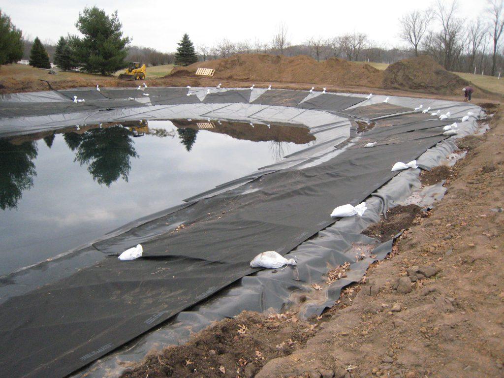 pond liner, pond construction
