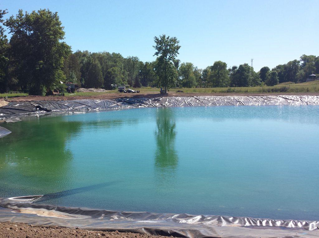 New pond, pond construction