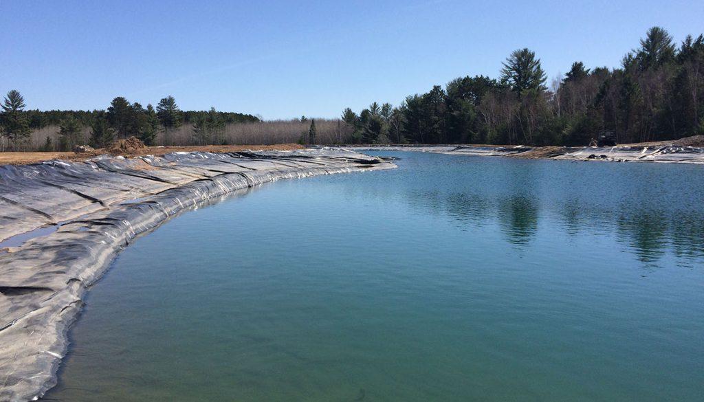 new pond, blue pond
