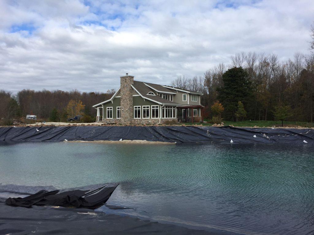 new pond, pond liner
