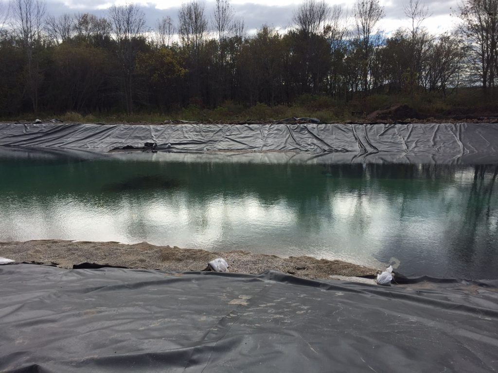 pond liner install