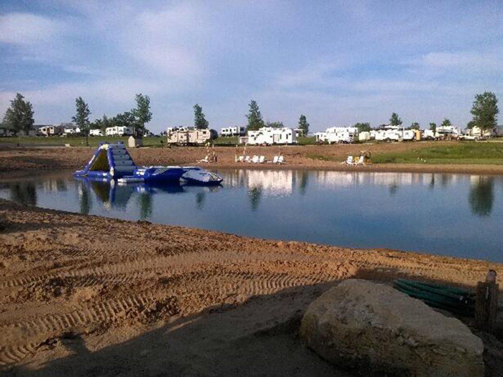 swim pond, campground
